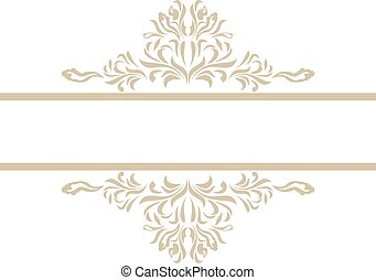 Ornamental element for vintage decor. Vector illustration