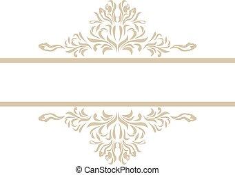 Ornamental element for vintage decor. Vector illustration