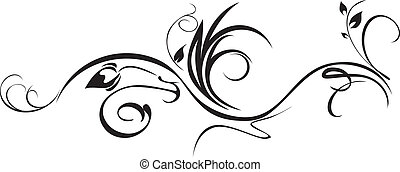 Ornamental element isolated on the white. Vector...