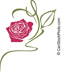Ornamental element with rose