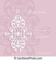 ornamental, elementos, clásico, estilo