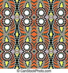 ornamental, estilo, geometria, vindima, seamless, padrão, étnico, backg