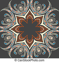 ornamental, färgglatt, bakgrund