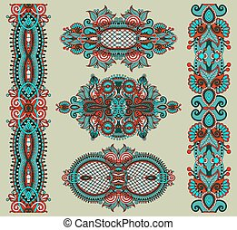 ornamental floral adornment, vector illustration