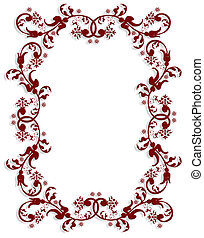 Ornamental floral border