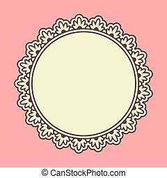 Ornamental floral frame