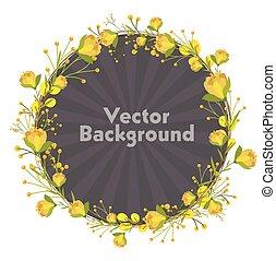 Ornamental Floral Frame Vector