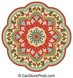 Ornamental floral mandala.