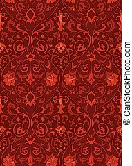 Ornamental floral pattern. - Pattern with ornamental...