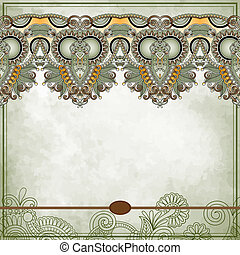 Ornamental floral pattern with place for your text, in...