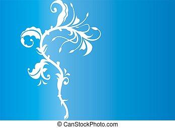 Ornamental flower element