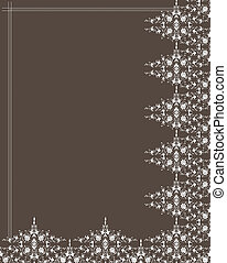 Ornamental frame and pattern. Vector