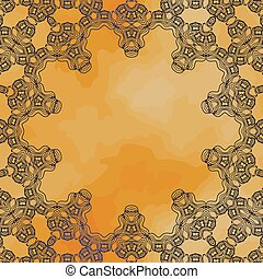 Ornamental frame border with a lot of copyspace