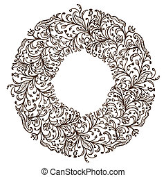 Ornamental frame, hand drawing for your design