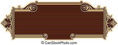 Ornamental frame in baroque style. - Vector richly decorated...