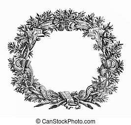 Ornamental frame like a laurel wreath