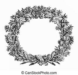 Ornamental frame like a laurel wreath