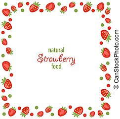 Ornamental Frame Made of Strawberry