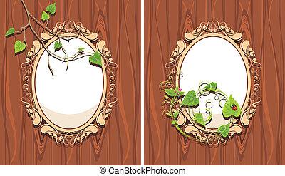 Ornamental frames with sprigs