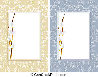 Ornamental frames with willow