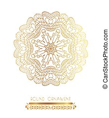 Ornamental gold circle frame