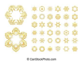 Ornamental gold  oriental mandala
