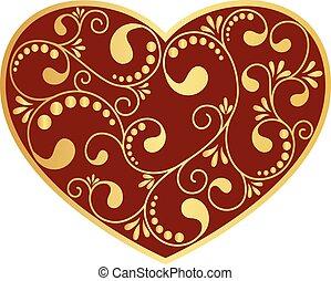ornamental heart isolated