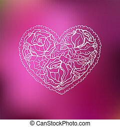 Ornamental Heart. Love.