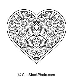 Ornamental Heart - Ornament beautiful card with mandala....