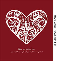 Ornamental Heart postcard