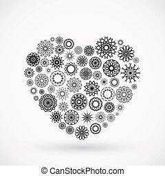 Ornamental Heart - Vector ornamental heart. Valentine's day...