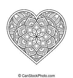ornamental, hjärta