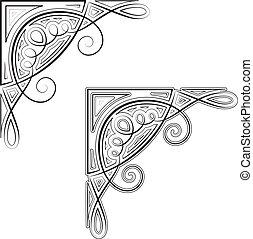 ornamental, hjørne
