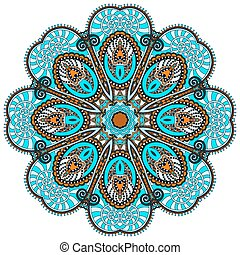 ornamental, hymne, lotus, symbol, flyde, mandala, indisk, ...