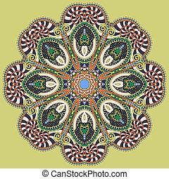 ornamental, hymne, lotus, symbol, flyde, mandala, indisk,...