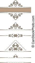 ornamental, kanter, dekor