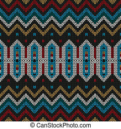 Ornamental knitted pattern