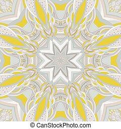 Ornamental lace pattern, circle bac
