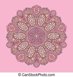 ornamental lace pattern, circle bac