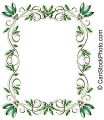 Ornamental leaves Frame