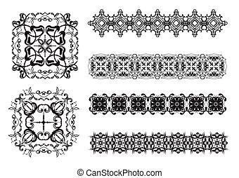 ornamental, linhas, cobrança, regra