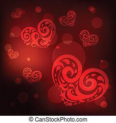 ornamental, love., heart.