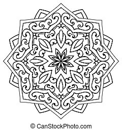 ornamental, mandala., ?bstract