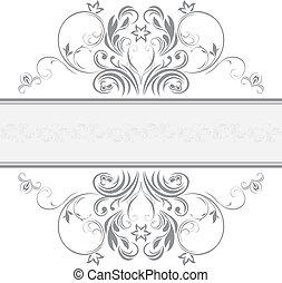 ornamental, marco, diseño