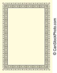 ornamental, marco, foto, vendimia