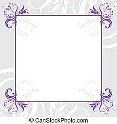 ornamental, marco, lila
