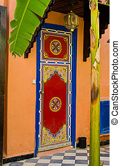 Ornamental moroccan door