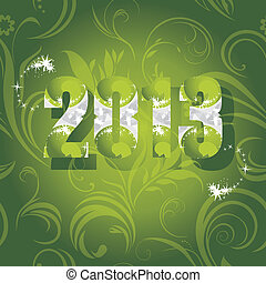 Ornamental New Year background