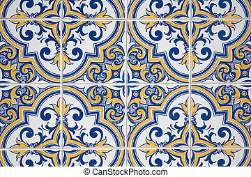 Ornamental old tiles - Ornamental old typical tiles from ...