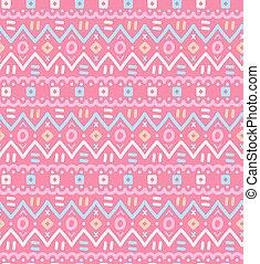 ornamental, ornamental, pattern., seamless, tekstilet, etniske, stribet, indfødt